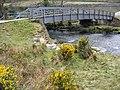 Footbridge and railway bridge over the Glaslyn - geograph.org.uk - 1382415.jpg