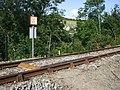 Footpath across the railway, Llanbadarn Fawr - geograph.org.uk - 1453007.jpg