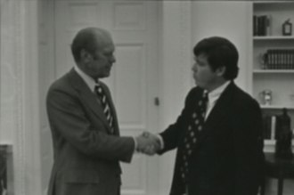 Haley Barbour - Barbour with President Gerald Ford in 1976