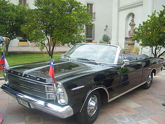 President of Chile - Ford Galaxie presidential car