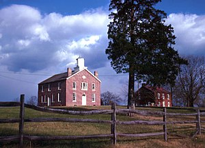 Brentsville, Virginia - Former Prince William County Courthouse (built 1822), located in Brentsville and seen in 1969