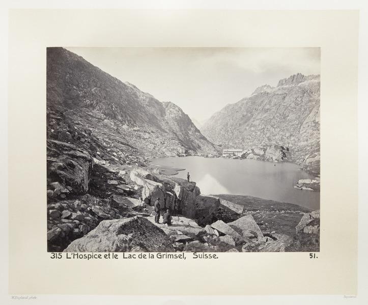 Fotografi av sjö, berg och vandrarhem i Schweiz - Hallwylska museet - 103184