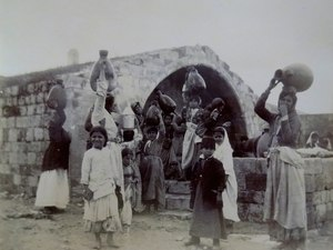 Fountain of the Virgin, Nazareth, 1891