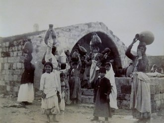 Mary's Well - Fountain of the Virgin, Nazareth, 1891