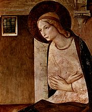 The Virgin of the Annunciation.