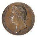 Framsida av medalj med Karl XIV Johan i profil - Skoklosters slott - 99251.tif