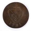 Framsida av mynt med hjärta, 1791 - Skoklosters slott - 99244.tif