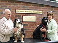 Franci and Kayleigh by the plaque on the new Kennel Runs, Hearing Dogs, Saunderton - geograph.org.uk - 1343907.jpg