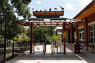 Frank Buck Zoo - Zoo entrance (photo July 2010)