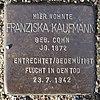 Stolperstein für Franziska Kaufmann