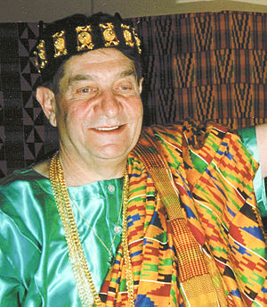 Fred Levin - Fred Levin being inducted as a chief of Ghana.