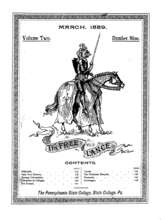 The Daily Collegian - The first appearance of the Free Lance decorative cover page in 1889.