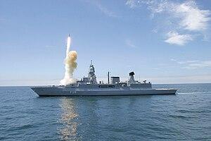 Sachsen-class frigate - Sachsen launching an SM-2 missile