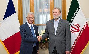 Ali Larijani - Larijani with Claude Bartolone
