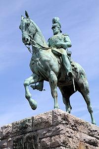 Friedrich III. von Preußen Hohenzollernbrücke Köln.JPG