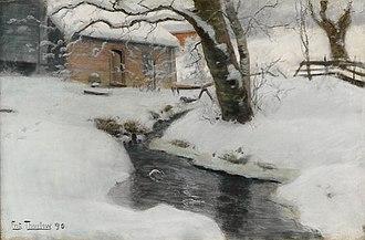 Frits Thaulow - Image: Frits Thaulow Norsk vinterlandskap 1890