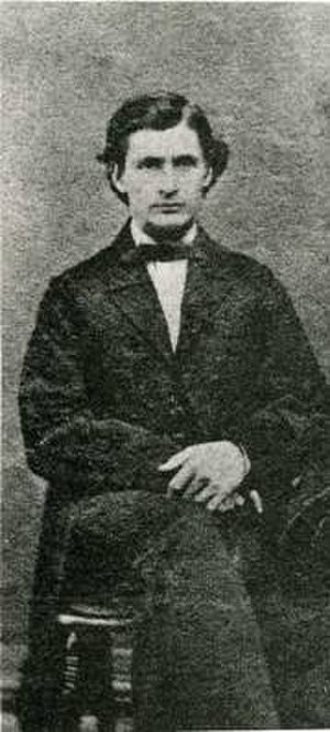 Pejepscot Historical Society - John Furbish in his 1863 wedding photo. Furbish would later be a driving force in the establishment and maintenance of the organization.
