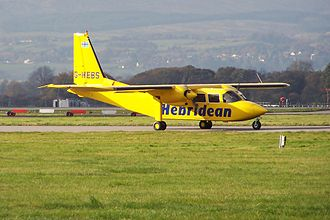 Hebridean Air Services - Hebridean Air Services Islander at Glasgow in 2010