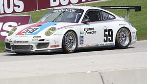 Brumos Racing - The Brumos Porsche 911 GT3 of Andrew Davis and Leh Keen racing at an event at Road America.