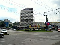 Gagarin-Cantemir-Albisoara-Negruzzi intersection. The Cosmos hotel - panoramio.jpg