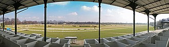 Cologne-Weidenpesch Racecourse - Panoramic view as seen from the old grandstand