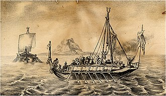 History of slavery in Asia - Garay pirate ships in the Sulu Sea, c. 1850