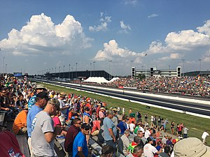 Gateway Motorsports Park - Looking down the drag strip towards the finish line during the NHRA Midwest Nationals.
