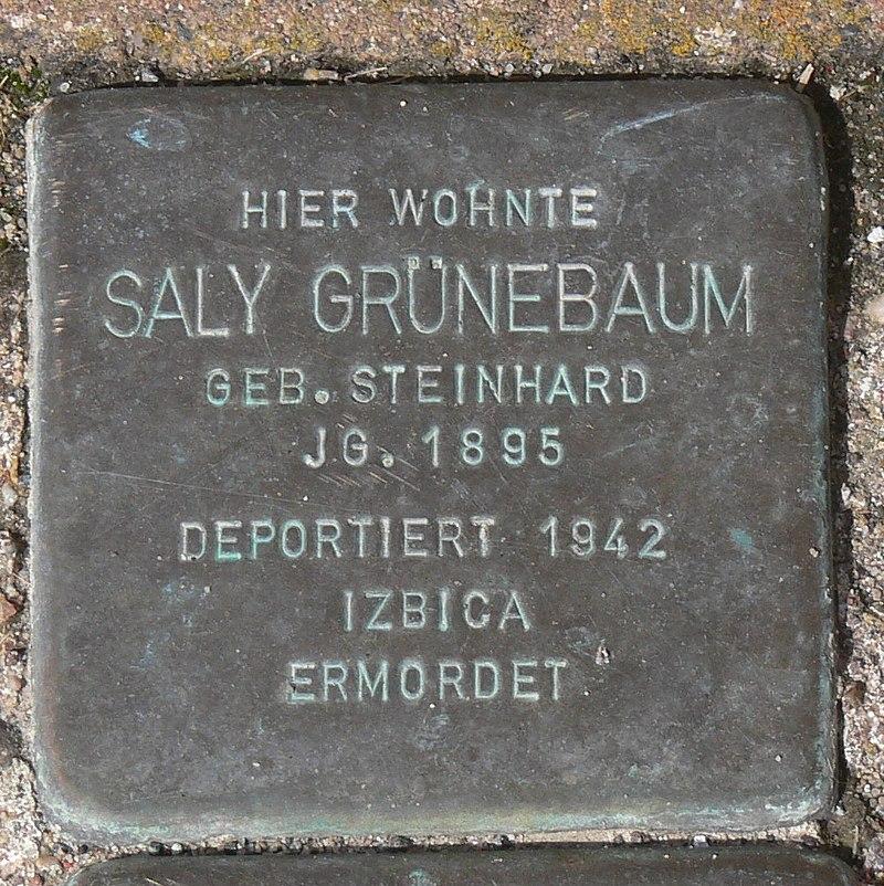Gaukönigshofen Stolperstein Grünebaum, Saly.jpg