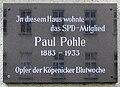 Gedenktafel Dorotheenstr 12 (Köpe) Paul Pohle.jpg