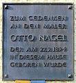 Gedenktafel Reinickendorfer Str 67 (Gesund) Otto Nagel.jpg