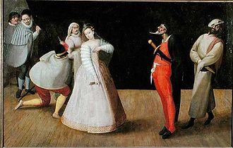 I Gelosi - I Gelosi performing, by Hieronymus Francken I, ca. 1590