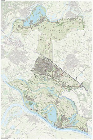 Zevenaar - Dutch Topographic map of Zevenaar, Sept. 2014