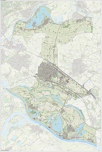 Zevenaar - Dutch Topographic map of Zevenaar, Sept. 2014