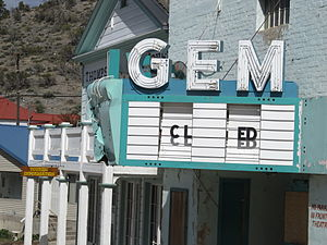 Brown's Hall-Thompson's Opera House - View of the Gem Theater; the old opera house is on the far side