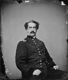 Abner Doubleday wearing an Army jacket.