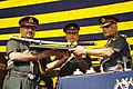 Gen. V.K. Singh, PVSM, AVSM, YSM, ADC, COAS being presented a Sword on being appointed Honorary Colonel of the Regiment of the Skinner's Horse, in Meerut on October 01, 2010.jpg