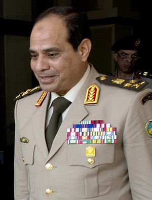 2013 Egyptian coup d'état - General Abdul Fatah al-Sisi in 2013.