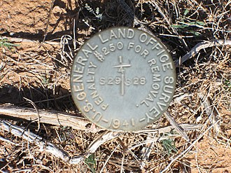 General Land Office - Image: General Land Office Survey Marker Sahuarita Arizona 2014