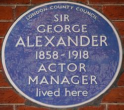 Photo of George Alexander blue plaque