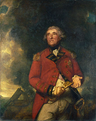 Great Siege of Gibraltar - Portrait of George Augustus Eliott by Sir Joshua Reynolds.