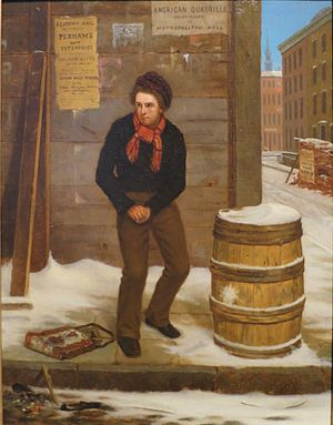 George Henry Yewell - Self-Defense, oil on canvas, 1854, in the collection of the High Museum of Art