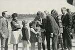 Gerald Ford deplaning at Patrick Henry Airport before third debate11.jpg