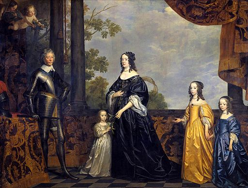 Gerard van Honthorst - Frederick Hendrick with His Wife Amalia van Solms and Their Three Youngest Daughters - WGA11678