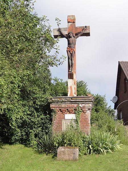 Gercy (Aisne) croix de chemin à Cambron