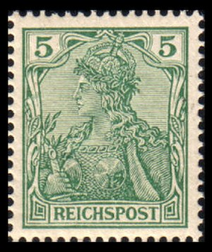 Germania (stamp) - Germania stamp from the 1900 issue