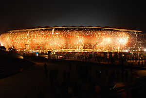 FNB Stadium - Image: Germany Ghana the stadium after the match