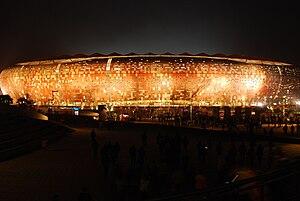 FNB Stadium - Image: Germany Ghana the stadium after the match