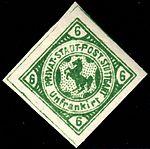 Germany Stuttgart 1886-87 local postage due stamp 6Pfg - 22 unused.jpg