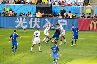 Argentina national football team - Action from the 2014 FIFA World Cup Final between Argentina and Germany
