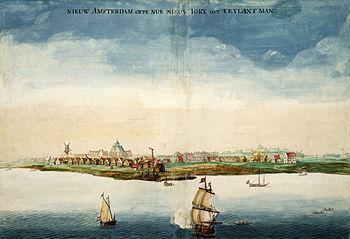 Johannes Vingboon: Nieuw Amsterdam 1664